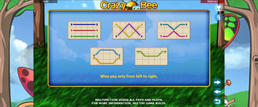 Crazy Bee - payline